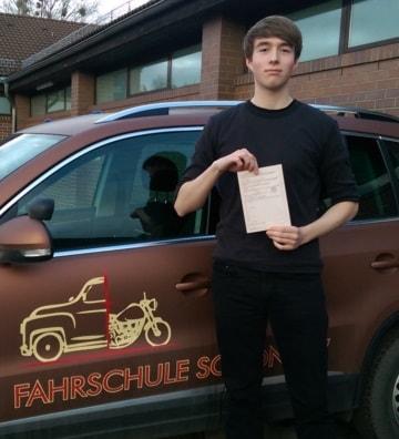 Fahrprüfung bestanden